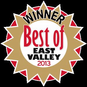 Winner, Best of the East Valley 2013