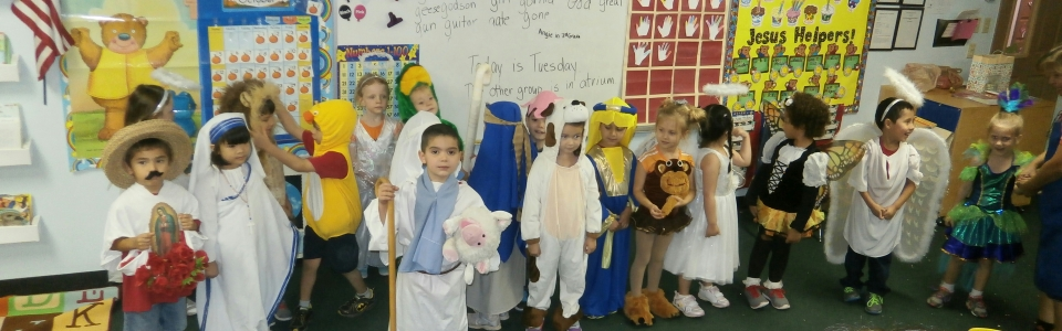 PreKindergarten students are Saints for All Hallows Eve